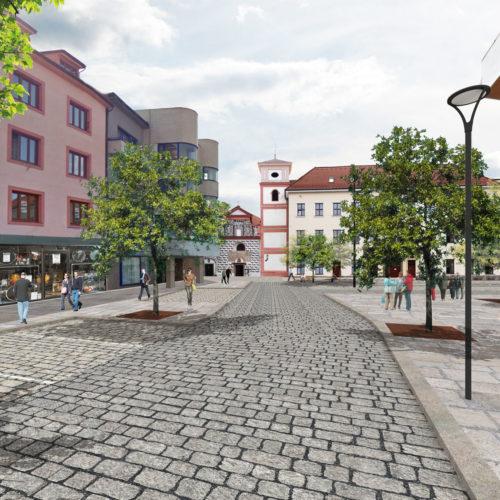 revitalizace náměstí v Písku