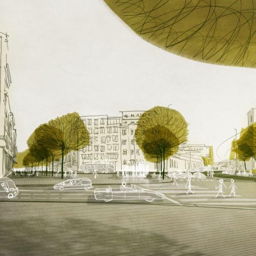 koncepční studie náměstí OSN